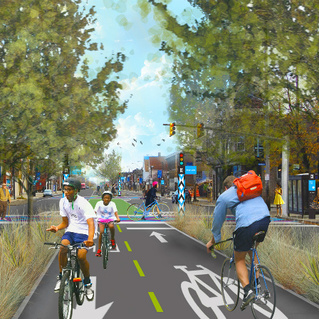 Ride and Learn: Cleveland's Midway Protected Bike Network